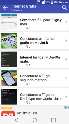 app internet gratis android 2017