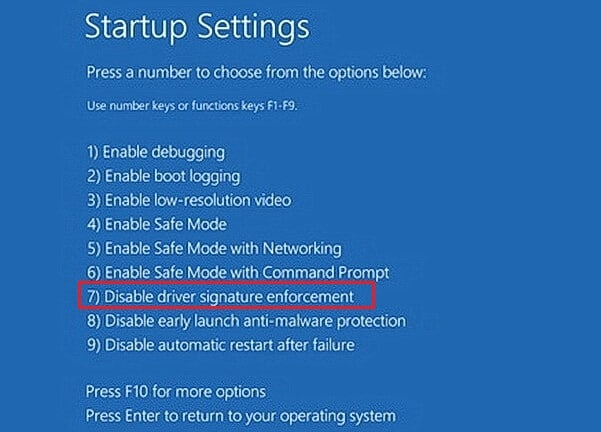 como deshabilitar firma de controladores en windows 7