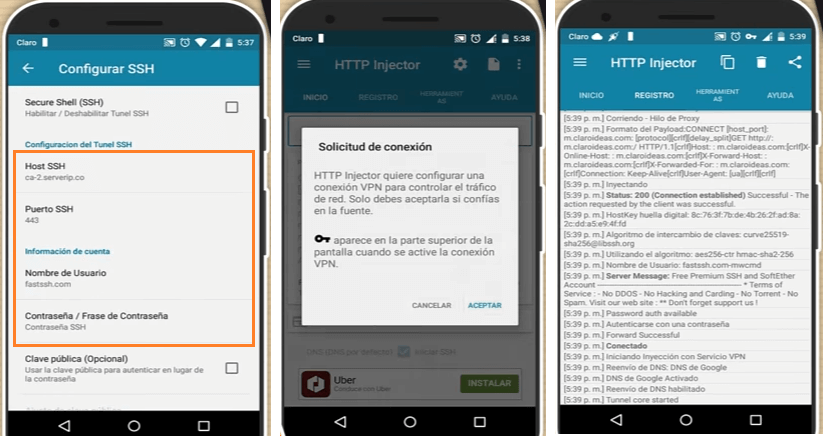 configurar http injector free android