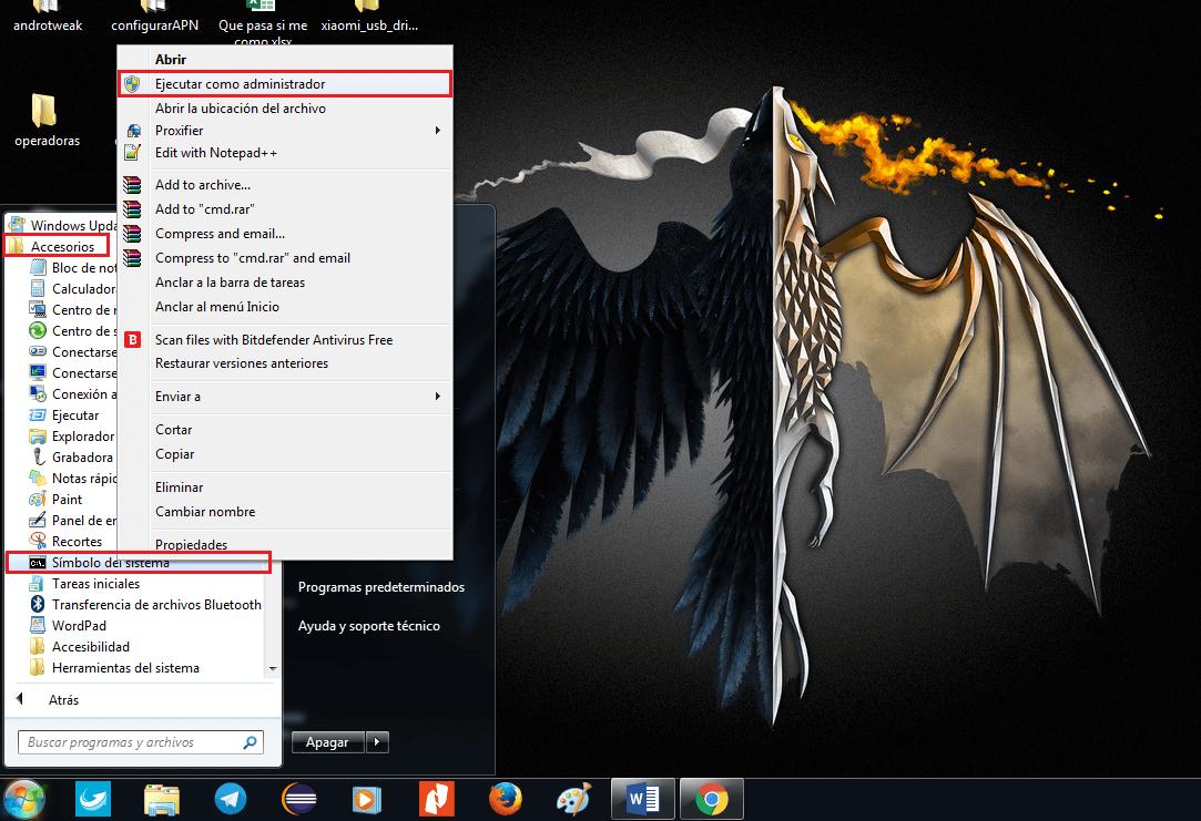 deshabilitar las firmas de controladores en windows 7