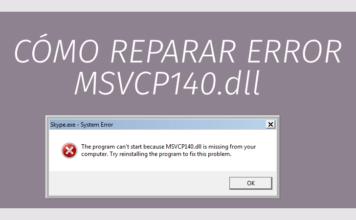 reparar falla MSVCP140.dll