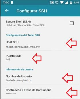ssh crear servidores http injector tigo wap