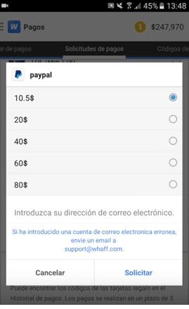 tener ganar dinero android gratis whaff rewards codigos google play gratis